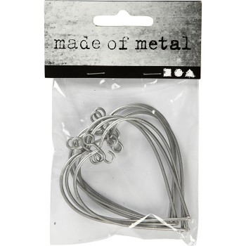 Metal Heart, size 6x6,5 cm, 6pcs