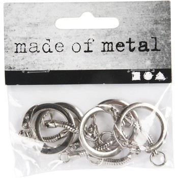 Key Chain, D: 2,3 cm, L: 6 cm, 5pcs