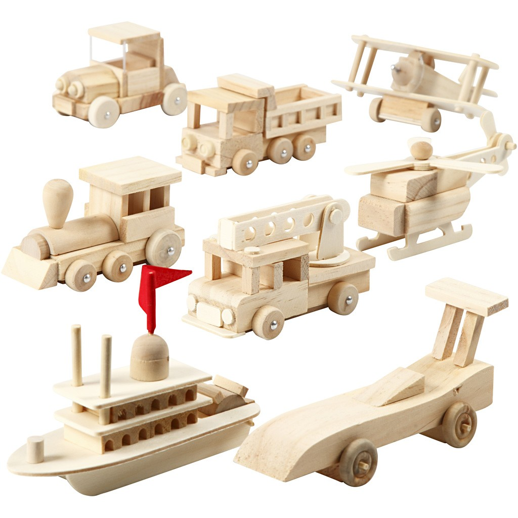 Bi Plane - Wooden Transportation Vehicles Assembly Kit