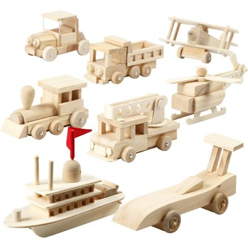 Bi Plane - Wooden Transportation Vehicles Assembly Kit