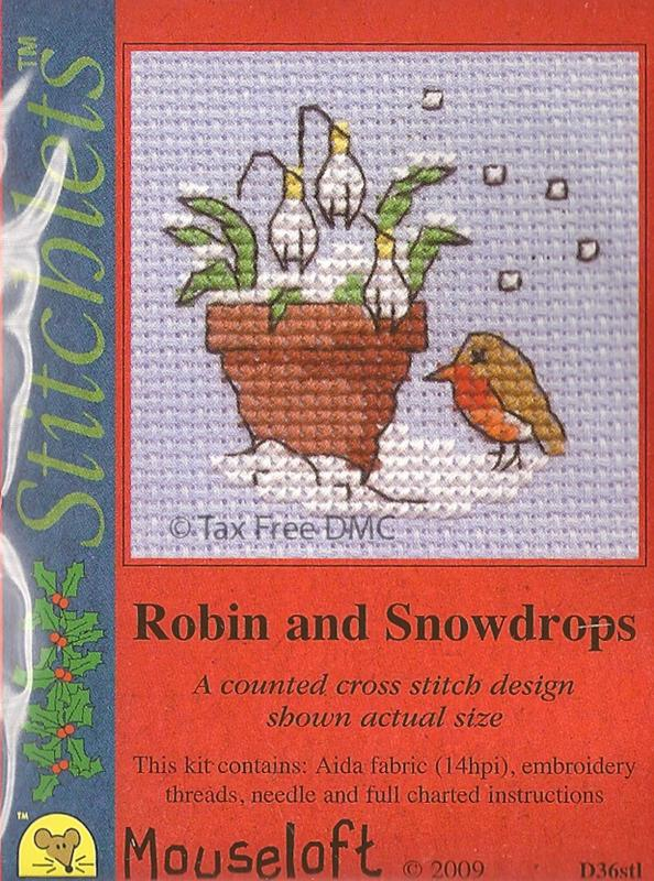 Mouseloft Christmas - Robin and Snowdrops