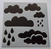 """Clouds 6x6"""" Stencil / Mask"""