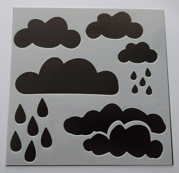 "Clouds 6x6"" Stencil / Mask"