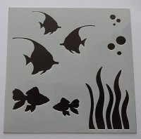 "Fishes 6x6"" Stencil / Mask"