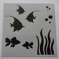 "Fishes 6x6"" Stencil / Mask"