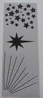Shooting Stars Stencil / Mask 80mm x 210mm