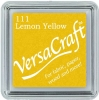 Versacraft Small Fabric Ink Pad for Stamps - Lemon Yellow 111