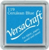 Versacraft Small Fabric Ink Pad for Stamps - Cerulean Blue