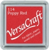 Versacraft Small Fabric Ink Pad for Stamps - Poppy Red