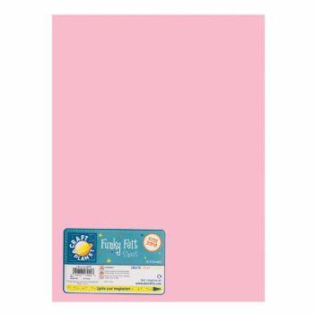 """9 x 12"""" Acrylic Felt - Pink"""