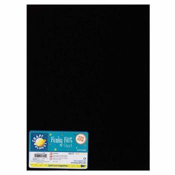 """9 x 12"""" Acrylic Felt - Black"""