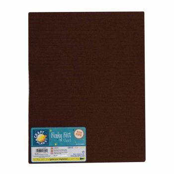 "9 x 12"" Acrylic Felt - Dark Brown"
