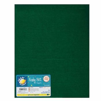 """9 x 12"""" Acrylic Felt - Green"""