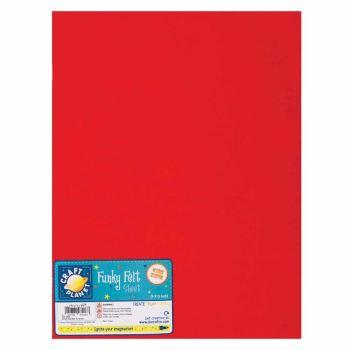 "9 x 12"" Acrylic Felt - Red"