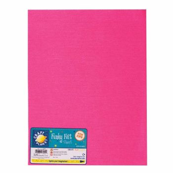 "9 x 12"" Acrylic Felt - Shocking Pink"