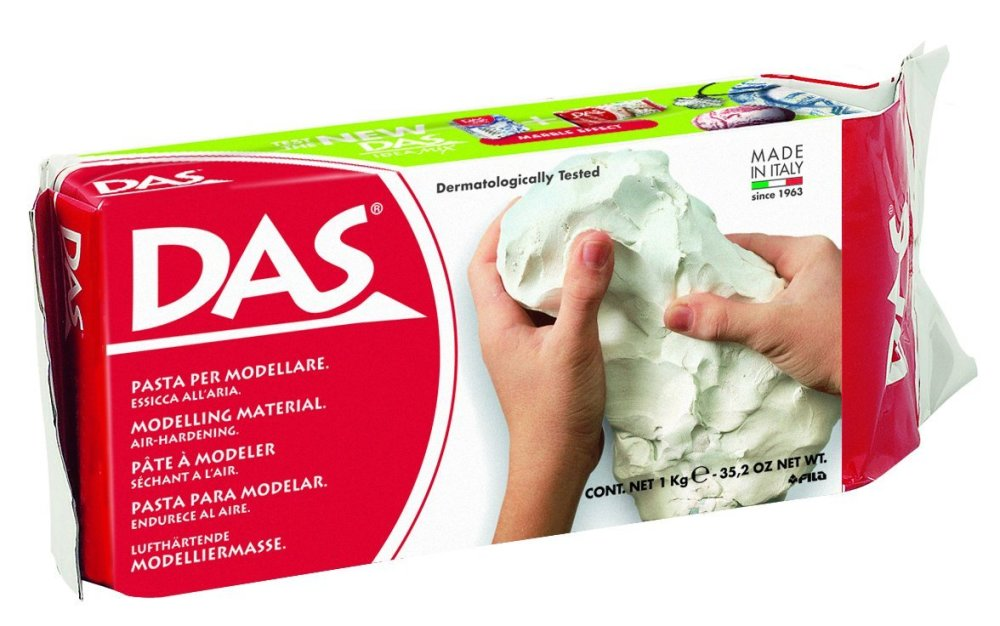 DAS Ready to use modelling clay - White, 1kg