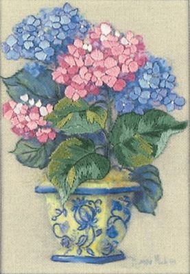 Dimensions embroidery - Colourful Hydrangea