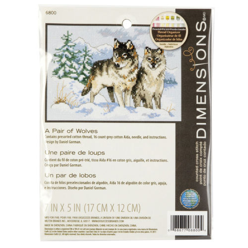 Dimensions cross stitch - A pair of Wolves