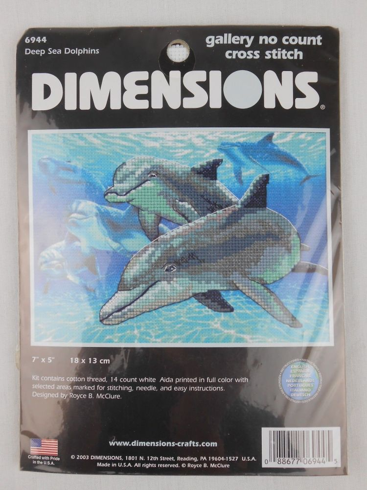 Dimensions cross stitch - Deep sea dolphins