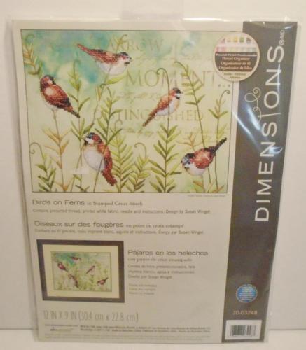 Dimensions stamped cross stitch - Birds of Fern