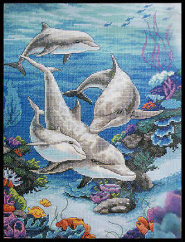 Dimensions cross stitch - The Dolphins' Domain