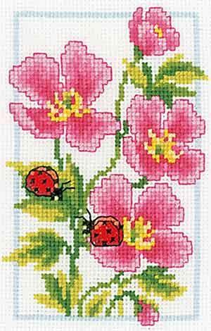 Vervaco cross stitch - Rose Geraniums