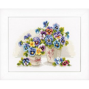 Vervaco cross stitch - Pretty Pansies