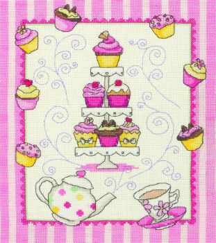 Anchor counted cross stitch kit - Cupcake