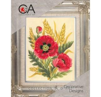 Collection D'Art - Poppies and Wheat