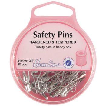 Hemline safety pins - 34mm