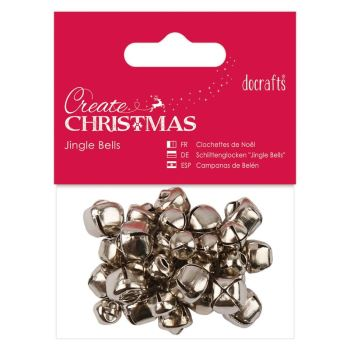 Jingle Bells (30pcs) - Silver - Assorted Sizes