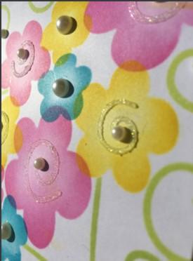 doodled flower close up