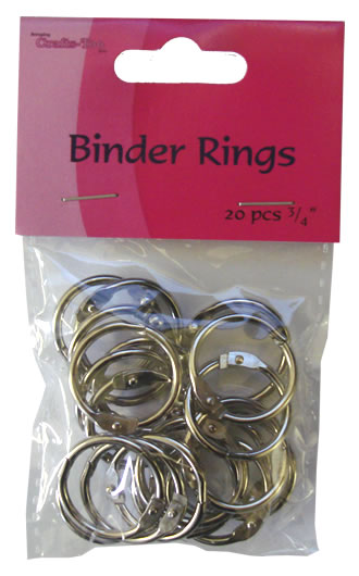 Binder Rings - 20pcs - 3/4