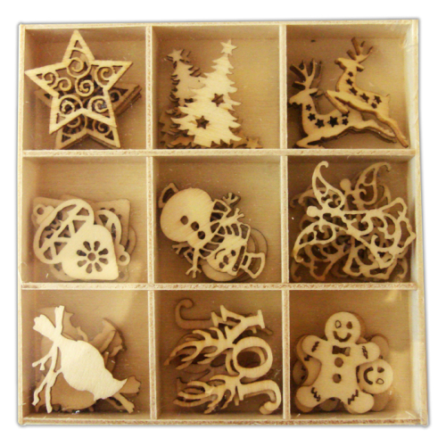 Crafts Too Wooden Elements Shapes - Xmas 1