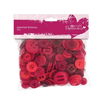 Assorted buttons- Red
