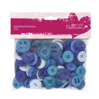 Assorted buttons- Blue