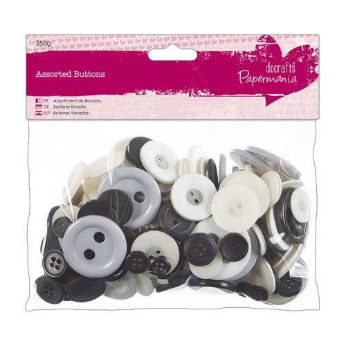 Assorted buttons- Monochrome