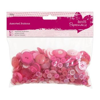 Assorted buttons- Pink