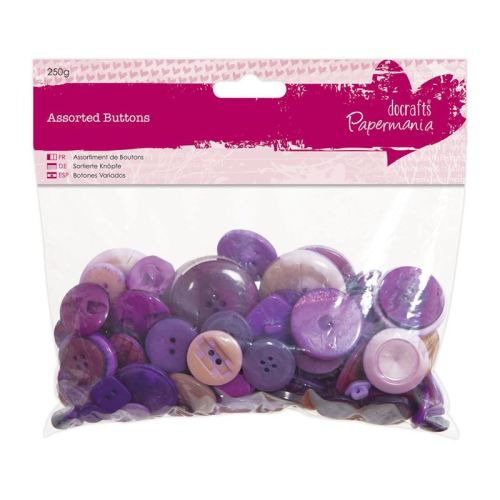 Assorted buttons- Purple