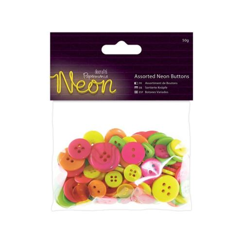 Assorted Buttons- Neon