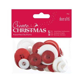 Assorted Buttons- Nordic Christmas