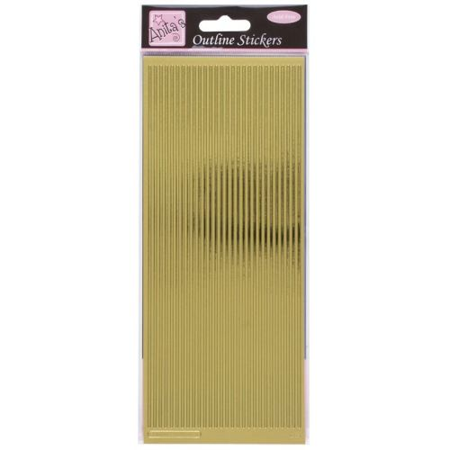 Outline Stickers - Straight Line Borders - Gold