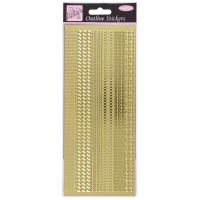 Outline Stickers - Assorted Borders - Gold