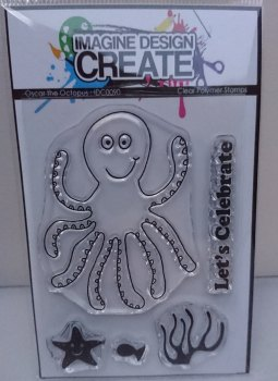 Oscar the Octopus : IDC0090 A7 stamp set