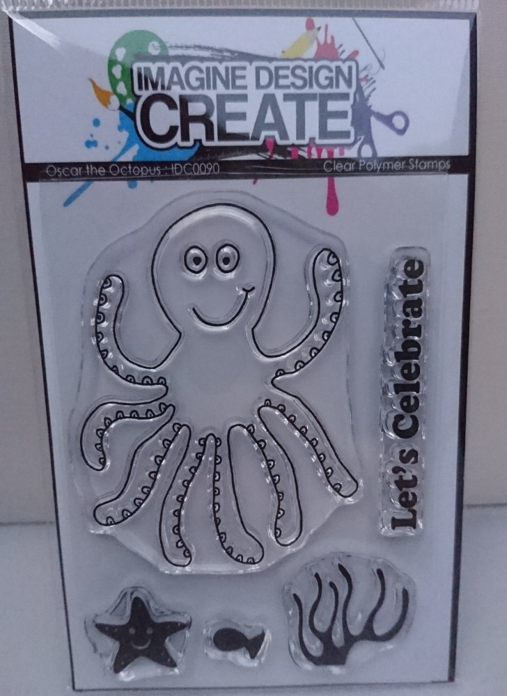 Oscar the Octopus : IDC0090 A7 stamp set