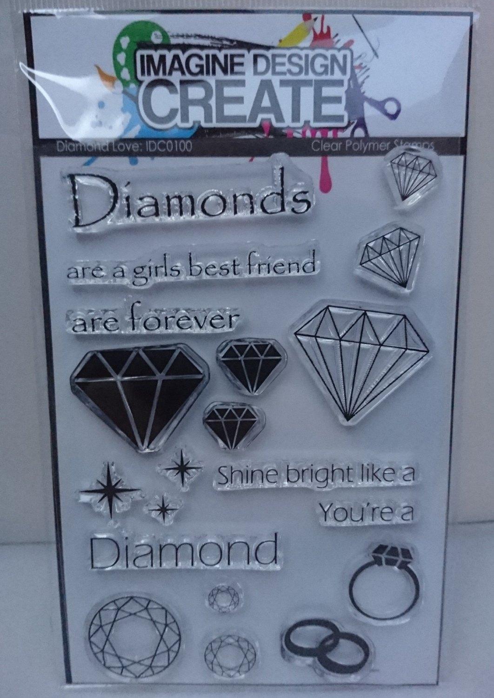 Diamond Love : IDC0100 A6 stamp set