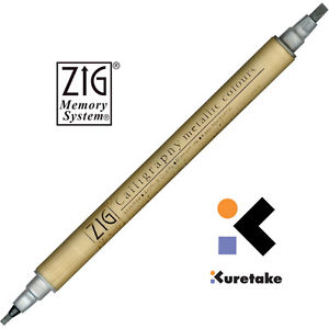Zig Metallic Silver Calligraphy pen