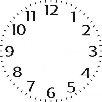 "Indigoblu Stencil - Small clock face (6"" x 6"")"