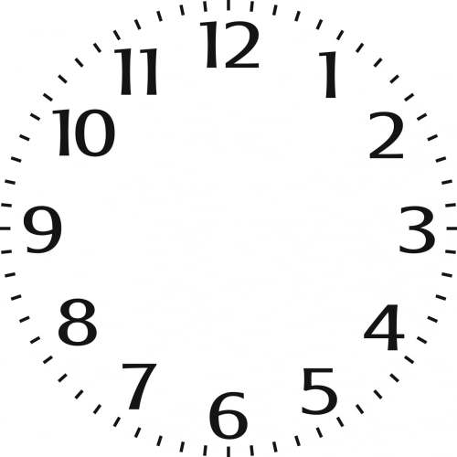 Indigoblu Stencil - Small clock face (6