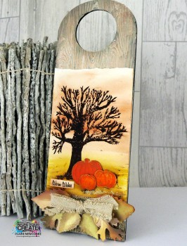autumn door plaque